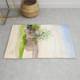 Egon Schiele - Garden with tree (new editing) Rug