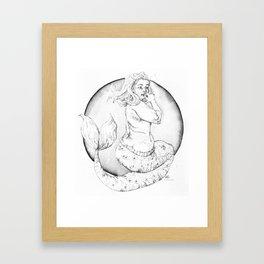 LUCY mermaid Framed Art Print