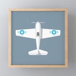 F6F Hellcat WWII Fighter Aircraft - Slate Framed Mini Art Print