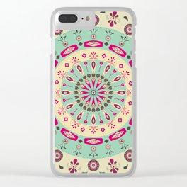 AFE Flower Mandala Clear iPhone Case