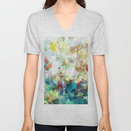 Spring Abstract Painting Unisex V-Neck