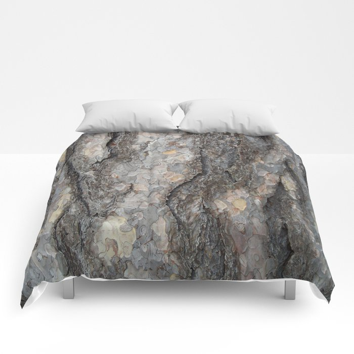 pine tree bark - scale pattern Comforters