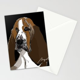 Basset Hound Stationery Cards