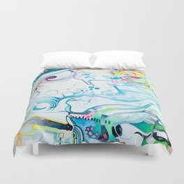 Fibroblasts - Watercolor Painting Duvet Cover