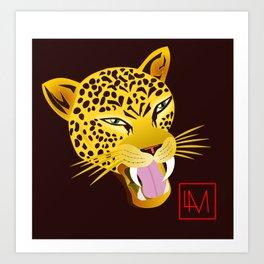 Moon Jaguar Art Print