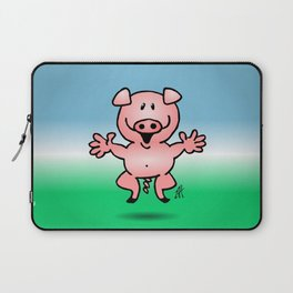 Cheerful little pig Laptop Sleeve