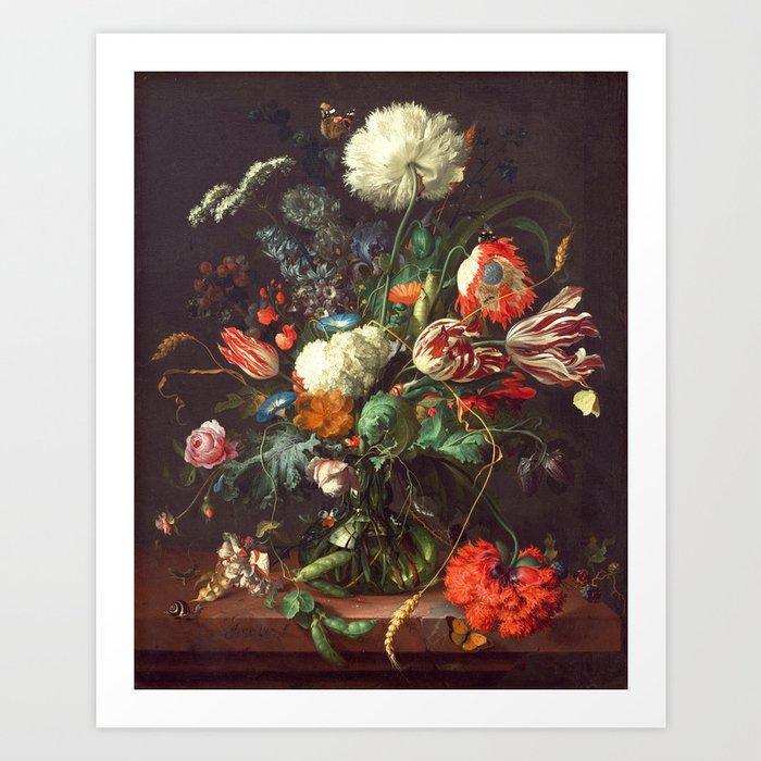 Vase of Flowers II - de Heem Kunstdrucke