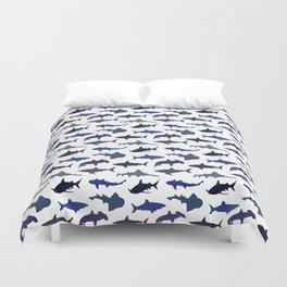 Blue Sharks Duvet Cover