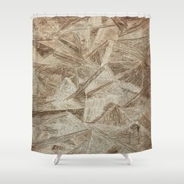 Crazy Lines Print Shower Curtain