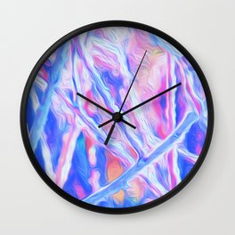 Lines, Colours, and Branches Wall Clock
