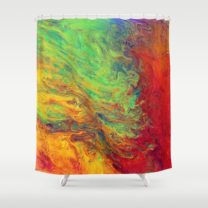 Psychedelic Shower Curtain By Madhattersdiary