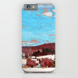 12,000pixel-500dpi - Tom Thomson - Early Spring - Digital Remastered Edition iPhone Case