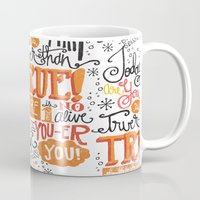 dr seuss Mugs featuring TODAY YOU ARE YOU... - DR. SEUSS by Matthew Taylor Wilson