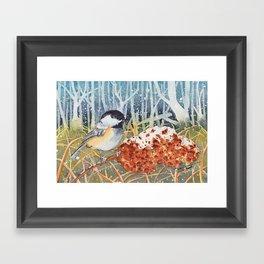 Marshland Chickadee Framed Art Print