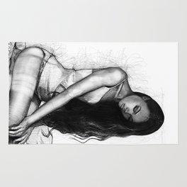 Natalie Danish - Kneeling Girl Rug