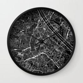 Vienna Black Map Wall Clock