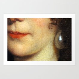 May I kiss you? Art Print