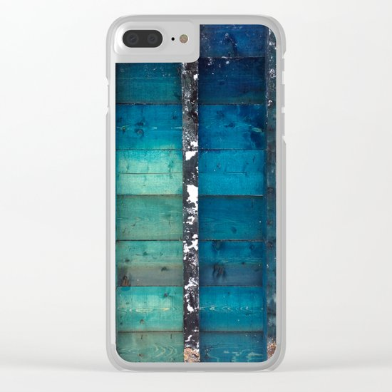 cold wooden palette Clear iPhone Case