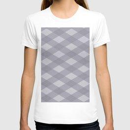 Pantone Lilac Gray Argyle Plaid Diamond Pattern T-shirt