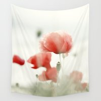 poppies Wall Tapestries featuring Poppies by Falko Follert Art-FF77