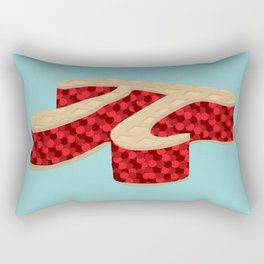 Pi Pie Rectangular Pillow