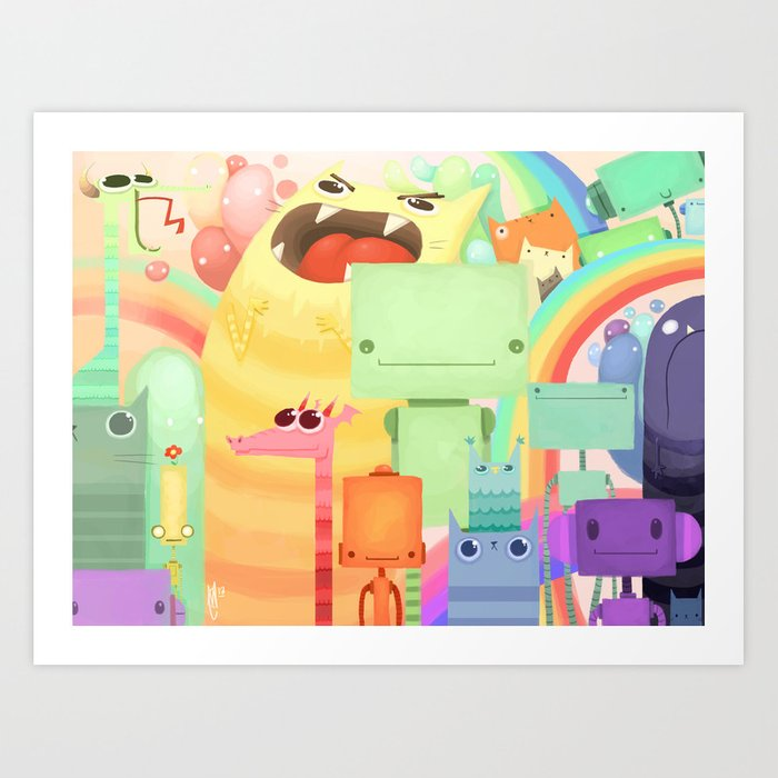 Who the What Art Print