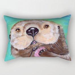 Otterly Cute Rectangular Pillow