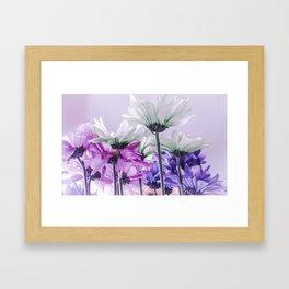 Purple Lavender Flowers Framed Art Print