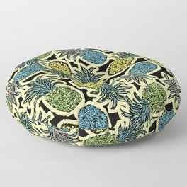 Pineapple Pandemonium - Retro Tones Floor Pillow