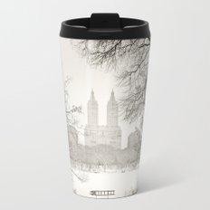 Winter - Central Park - New York City Travel Mug
