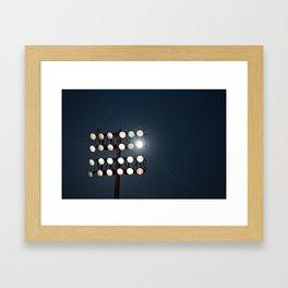 Beneath Friday Night Lights Framed Art Print