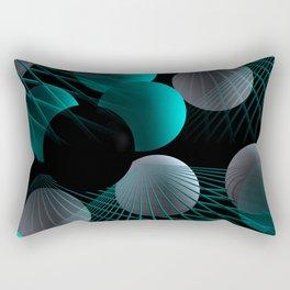 crazy lines and balls -5- Rectangular Pillow