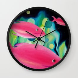 Tropical Fish Oil Painting Wall Clock