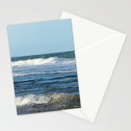 Waves and distant headlands in Queensland, Australia Stationery Cards