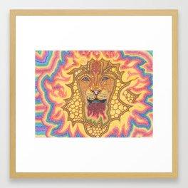 The Fire Lion Framed Art Print