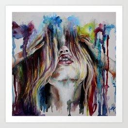 Haircolor (Study) Art Print