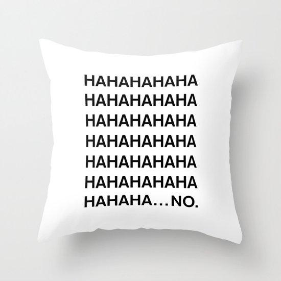 HAHA Throw Pillow