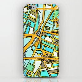 Abstract Map- Medford Square iPhone Skin