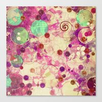 bubblegum Canvas Prints featuring Bubblegum by SensualPatterns