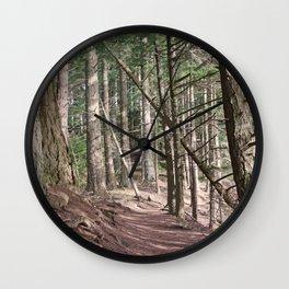 SHADOWS ON A WOODLAND PATH Wall Clock