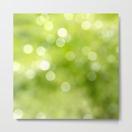 green bokeh Metal Print