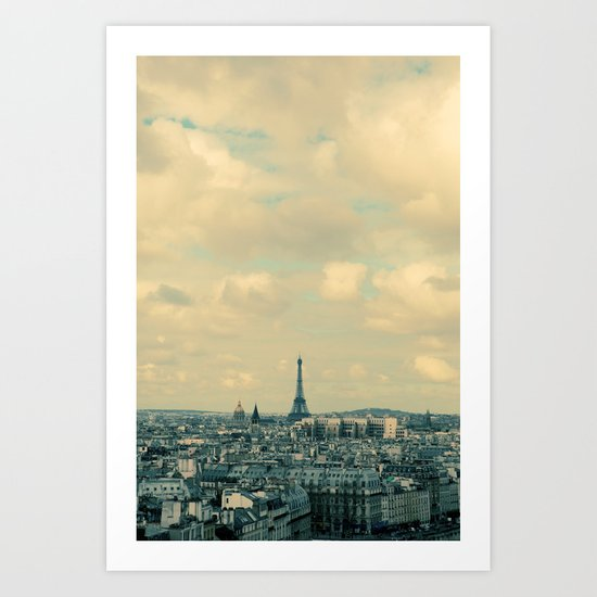 Paris In Blue Art Print