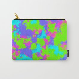 90s Neon Paint Splatter Carry-All Pouch