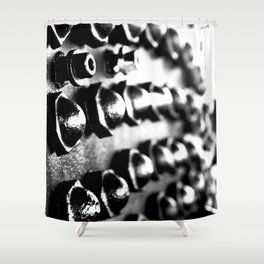 Black & White Industrial No. 1 Shower Curtain