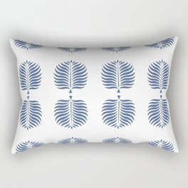 TROPICAL PALMS . WHITE + BLUE Rectangular Pillow