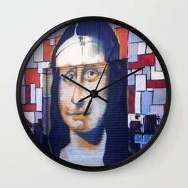 Mustachioed Mona Lisa Wall Clock