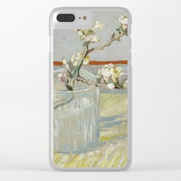 Vincent Van Gogh - Sprig of flowering almond in a glass Clear iPhone Case