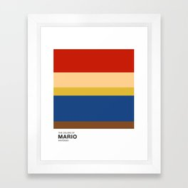 The Colors of Mario Framed Art Print