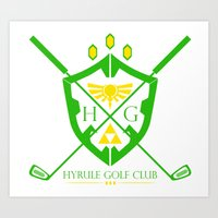 hyrule Art Prints featuring Hyrule Golf by reyrol