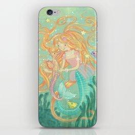 Mermaid Wishes & Seahorse Kisses iPhone Skin
